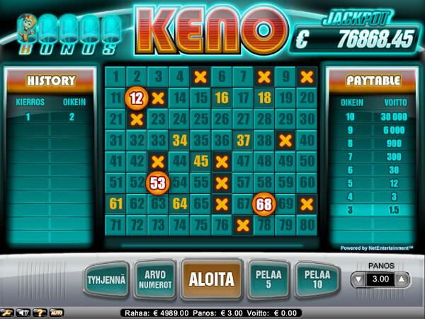 Keno netissä - Gamble Generation