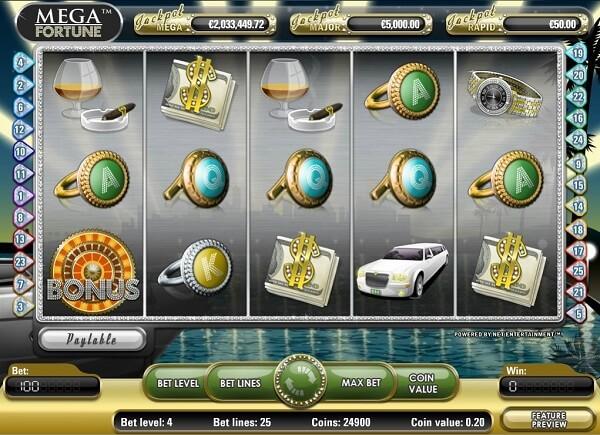 mega fortune jackpot kolikkopeli