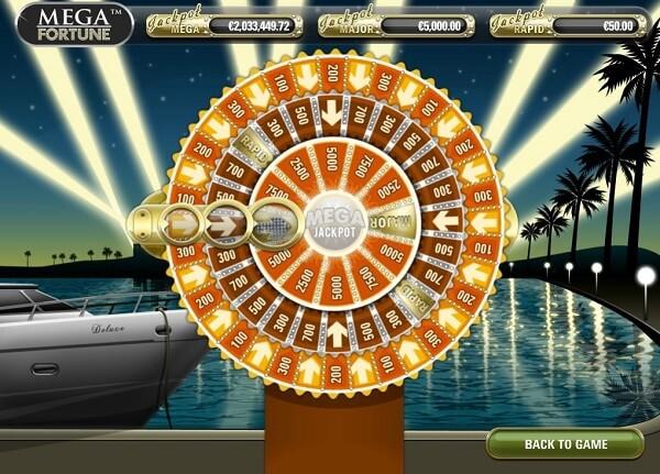 mega fortune bonuspeli ja jackpot