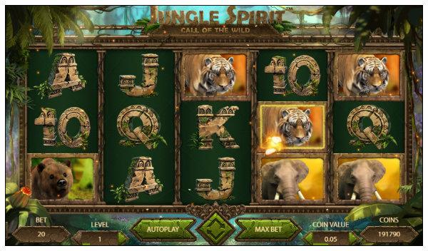 netentin jungle spirit call of the wild kolikkopeli