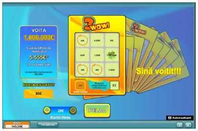 3WOW raaputusarpa netissä - voita jopa 1 000 000 €
