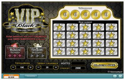 VIP Black -raaputusarpa voi tuottaa jopa 300 000 euron päävoiton
