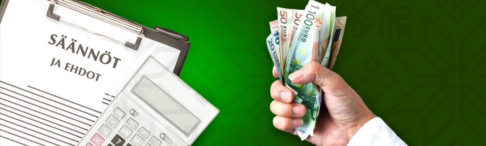 säännöt ja ehdot bonusten kierrättämiseen kasinolla