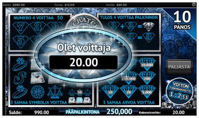 Scratch Diamonds -raaputusarpa netissä