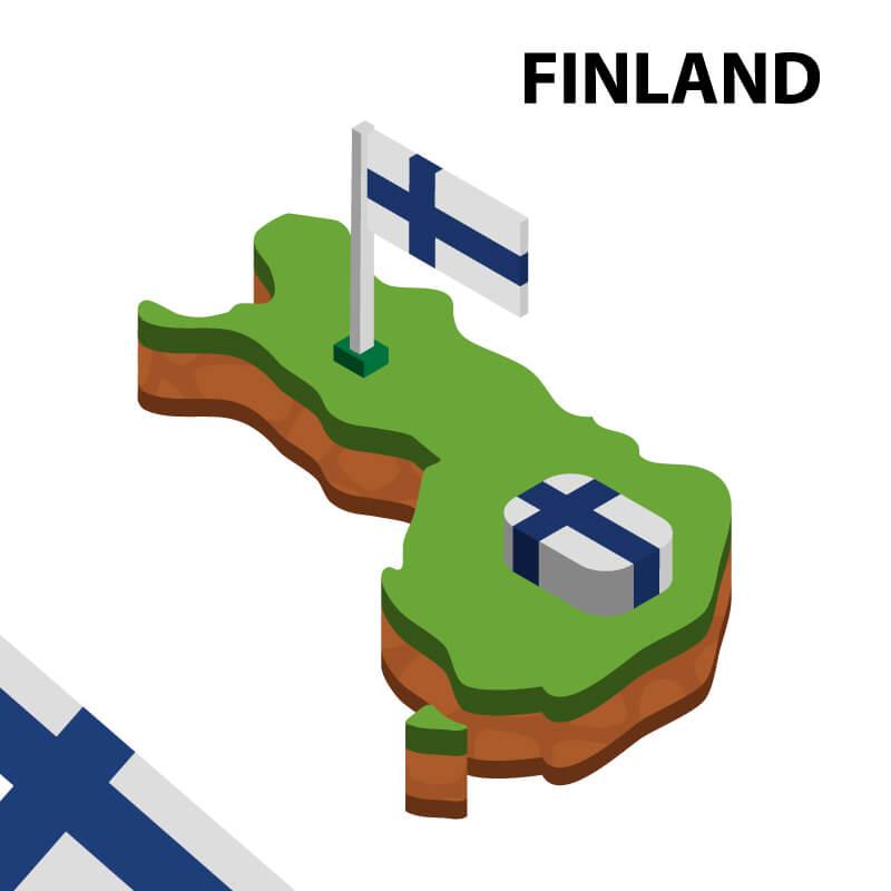 Suomen kartta ja lippu - Gamble Generation