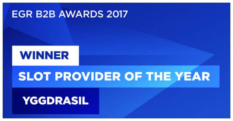 Yggdrasil voitti EGR B2B Awards -tapahtumassa Slot Provider of the Year -palkinnon