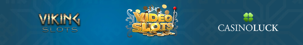 VikingSlots, Videoslots ja CasinoLuck logot