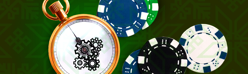Pelimerkkejä ja taskukello casinolla