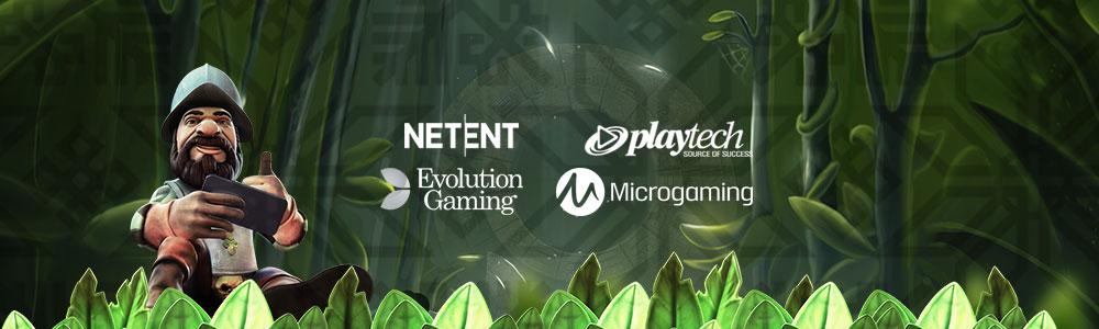 Esittelyssä pelialan isot nimet NetEnt, Microgaming, Evolution Live Casino ja Playtech