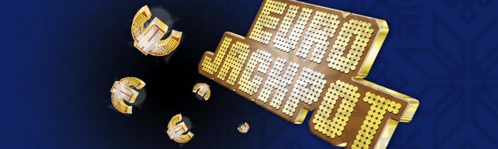 eurojackpot lotto kultasininen banneri