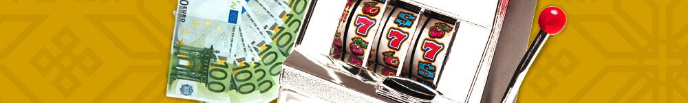 Seteleitä ja peliautomaatti