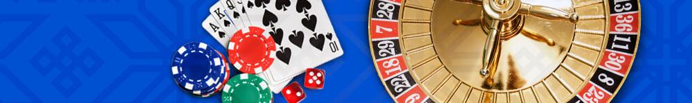 Pelikortit, pelimerkkejä ja rulettipyörä