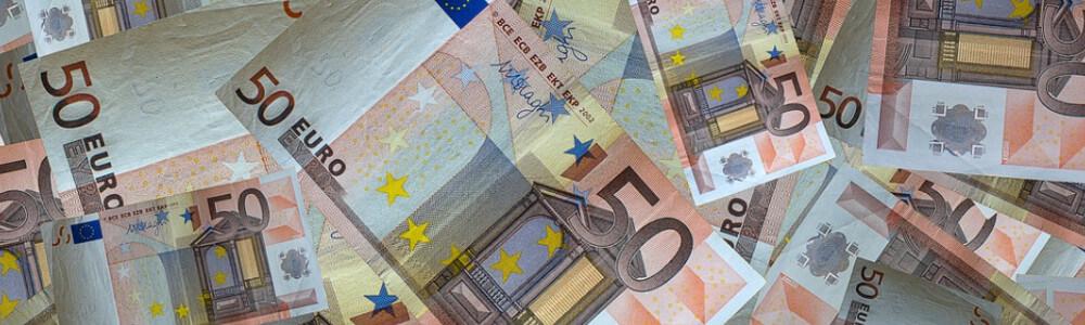 50 € seteleitä