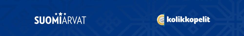Suomiarvat ja Kolikkopelit kasinoiden logot