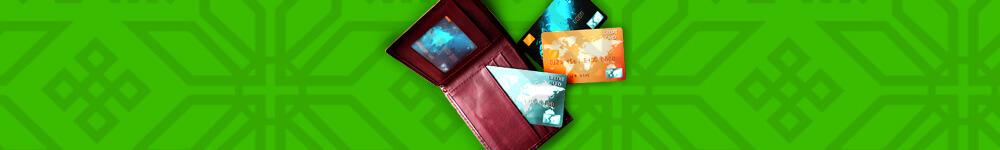 Lompakko ja luottokortteja