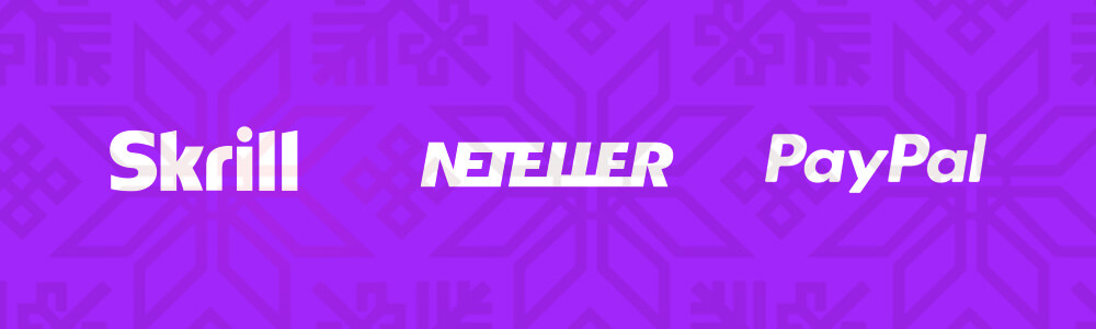 Skrill, Neteller ja PayPal logot